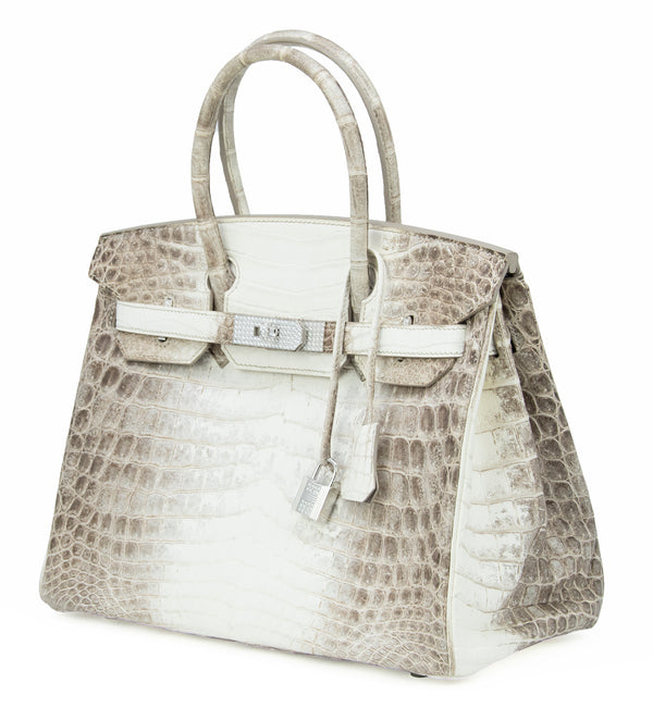 Hermes Birkin 30cm Himalayan Crocodile with Diamond Encrusted Hardware