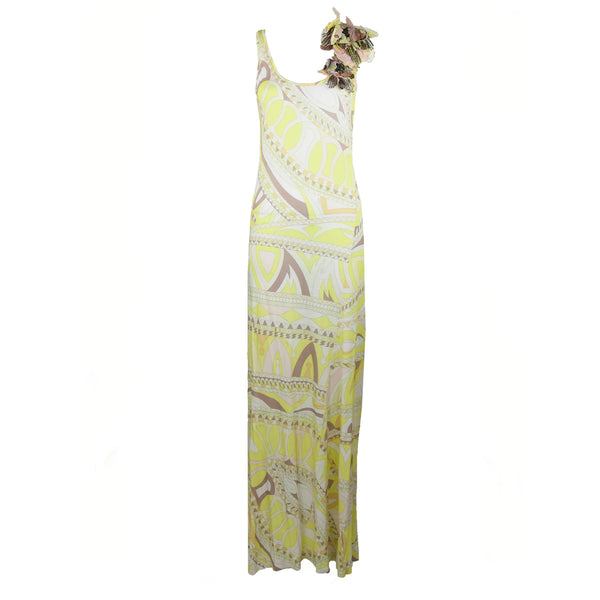 Emilio Pucci Knit Jersey Maxi Dress