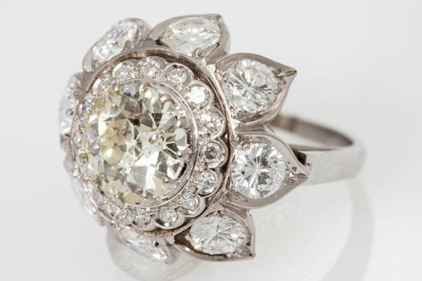 Bulgari Diamond Gold Engagement Ring