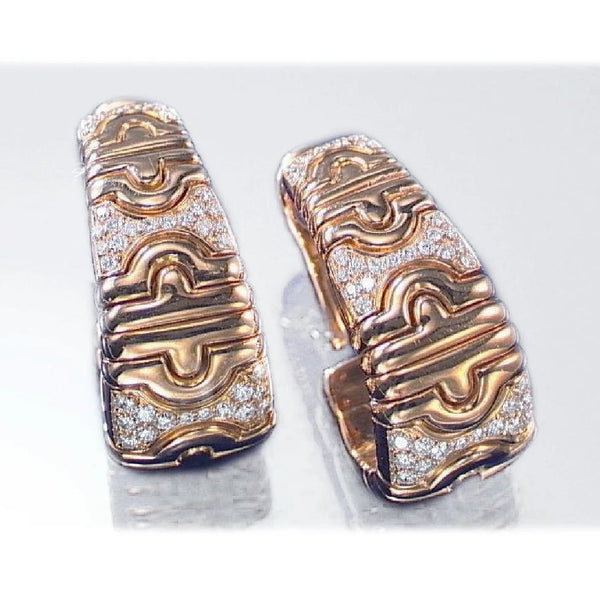 Bulgari Parentesi Yellow Gold & Diamond Ear Clips