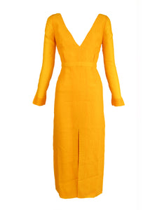 Emilia Wickstead Yellow Sheath Dress