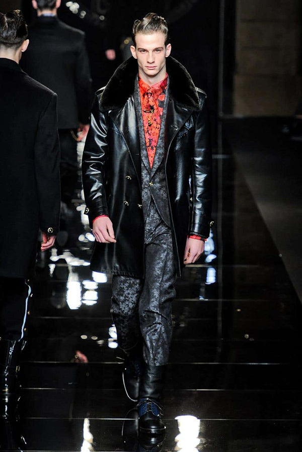 FALL/WINTER 2012 look # 16 & 22 BRAND NEW VERSACE GRAY SUIT