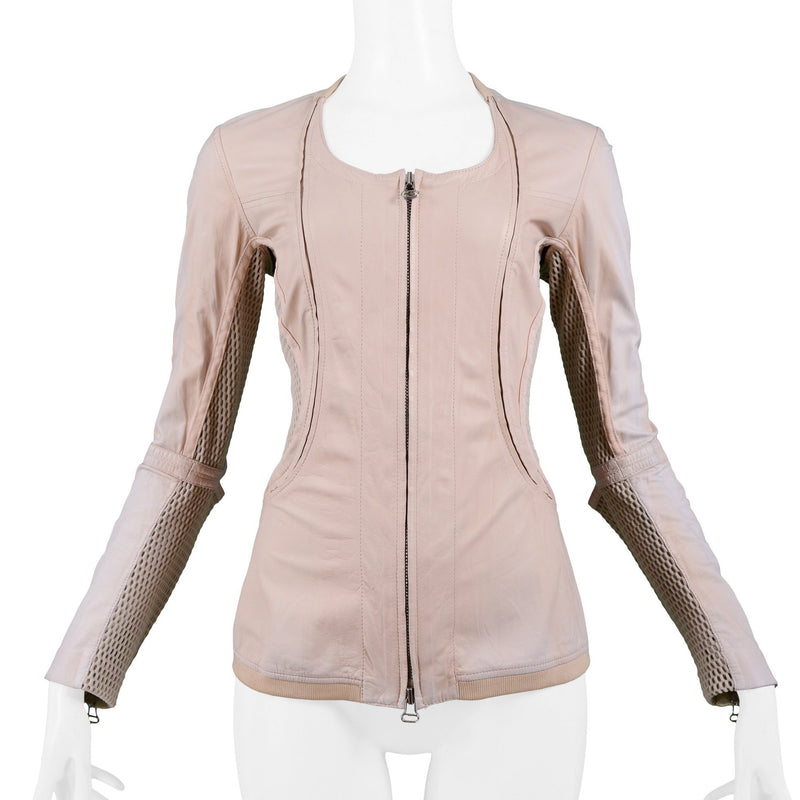 FERRE PINK LEATHER & MESH JACKET 2005