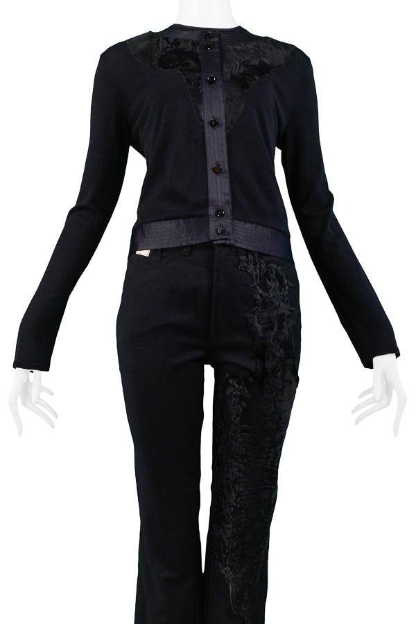 FERRE BLACK TWIN SET WITH PANTS
