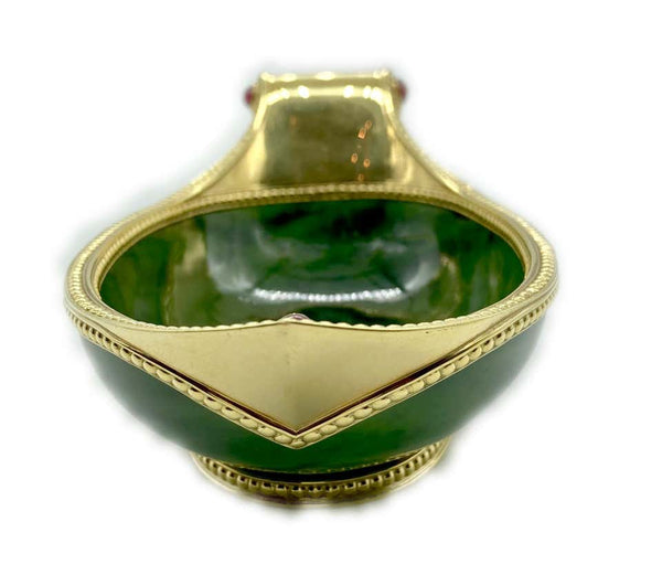 Fabergé Nephrite, Gold, and Ruby Kovsh