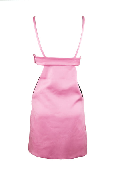 Fausto Puglisi Pink Cut Out Dress with Medallions