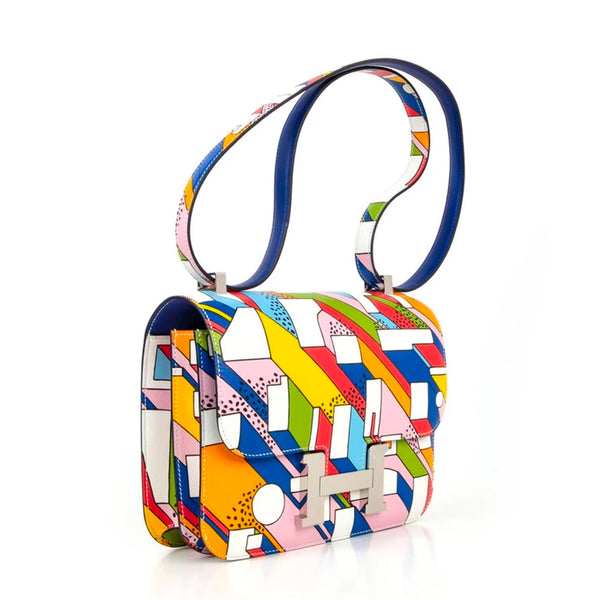 Hermes Constance 24 Bag On a Summer Day Ltd Ed Nigel Peake Collaboration New