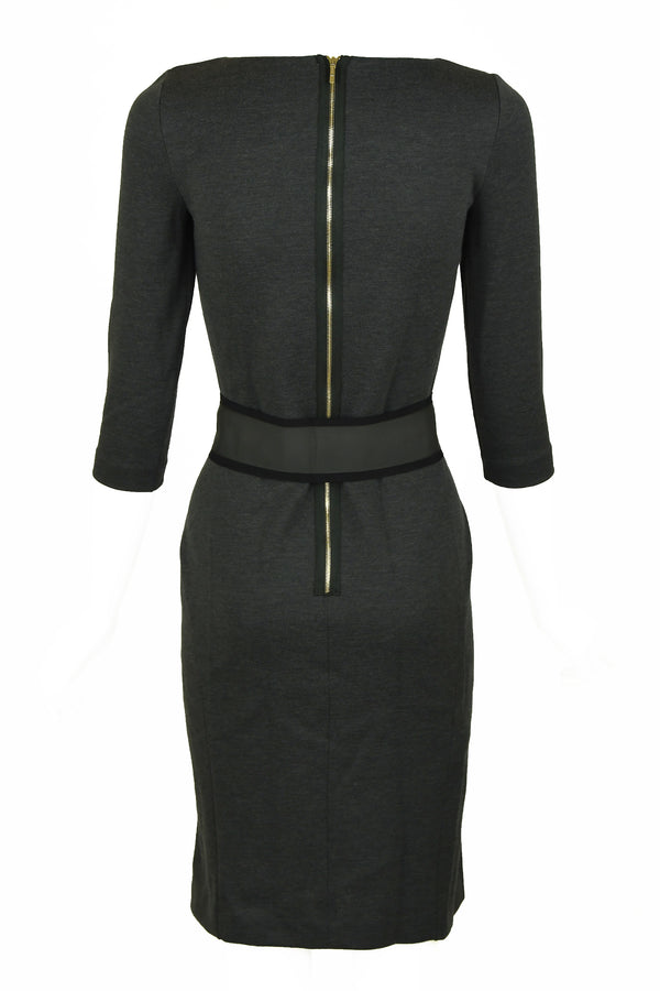 Fendi Gray Knit Dress with Belt