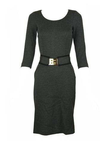 Fendi Gray Knit Dress with Belt - Size IT 40