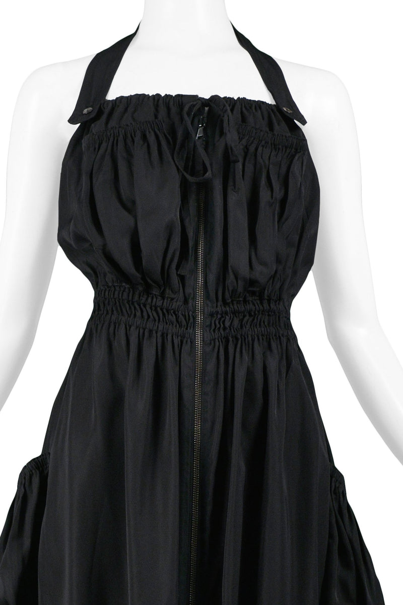 GAULTIER BLACK PARACHUTE DRESS