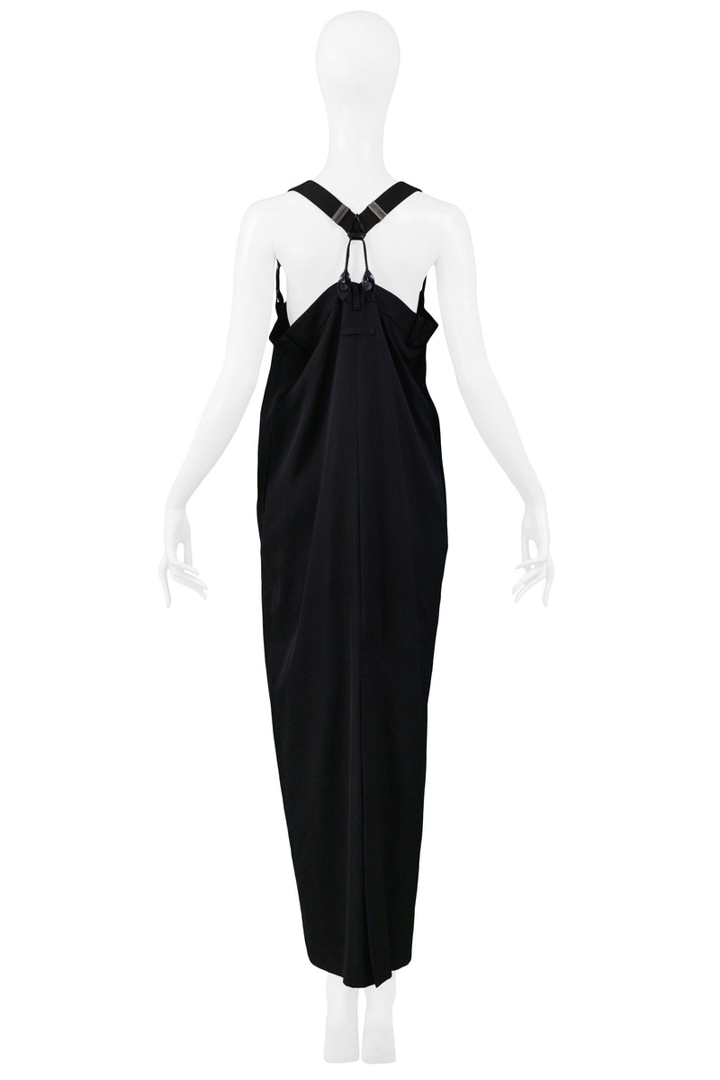 GAULTIER BLACK SUSPENDER DRESS