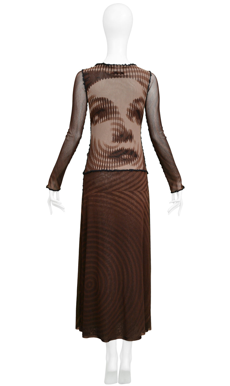 GAULTIER MESH MOVIE STAR DRESS