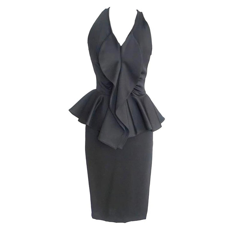 Givenchy Dress Lush Undulating Ruffle Peplum Waist 40 / 6