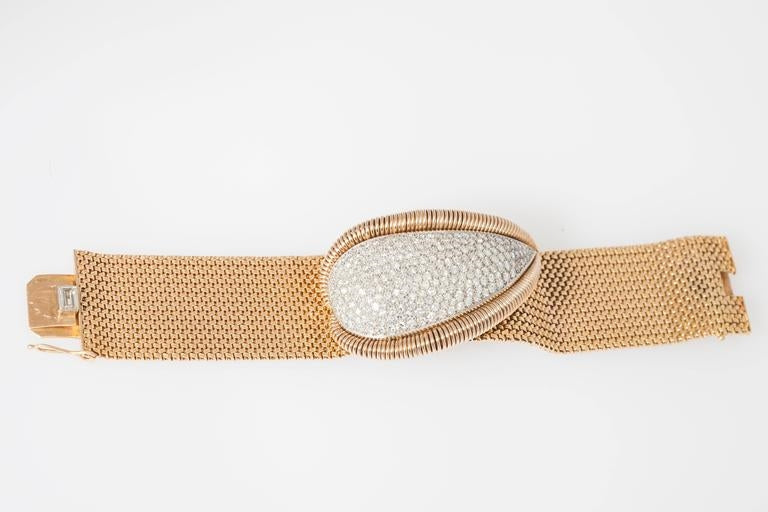 Mauboussin Retro Diamond Gold Bracelet