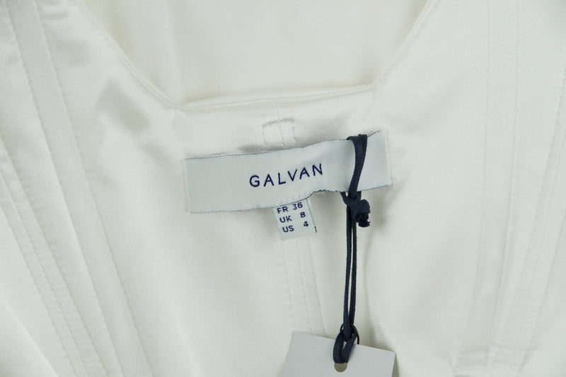 Galvan White Sleeveless Jumpsuit with Boning
