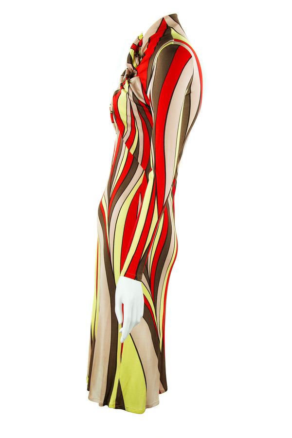 Gianni Versace Geometric Dress