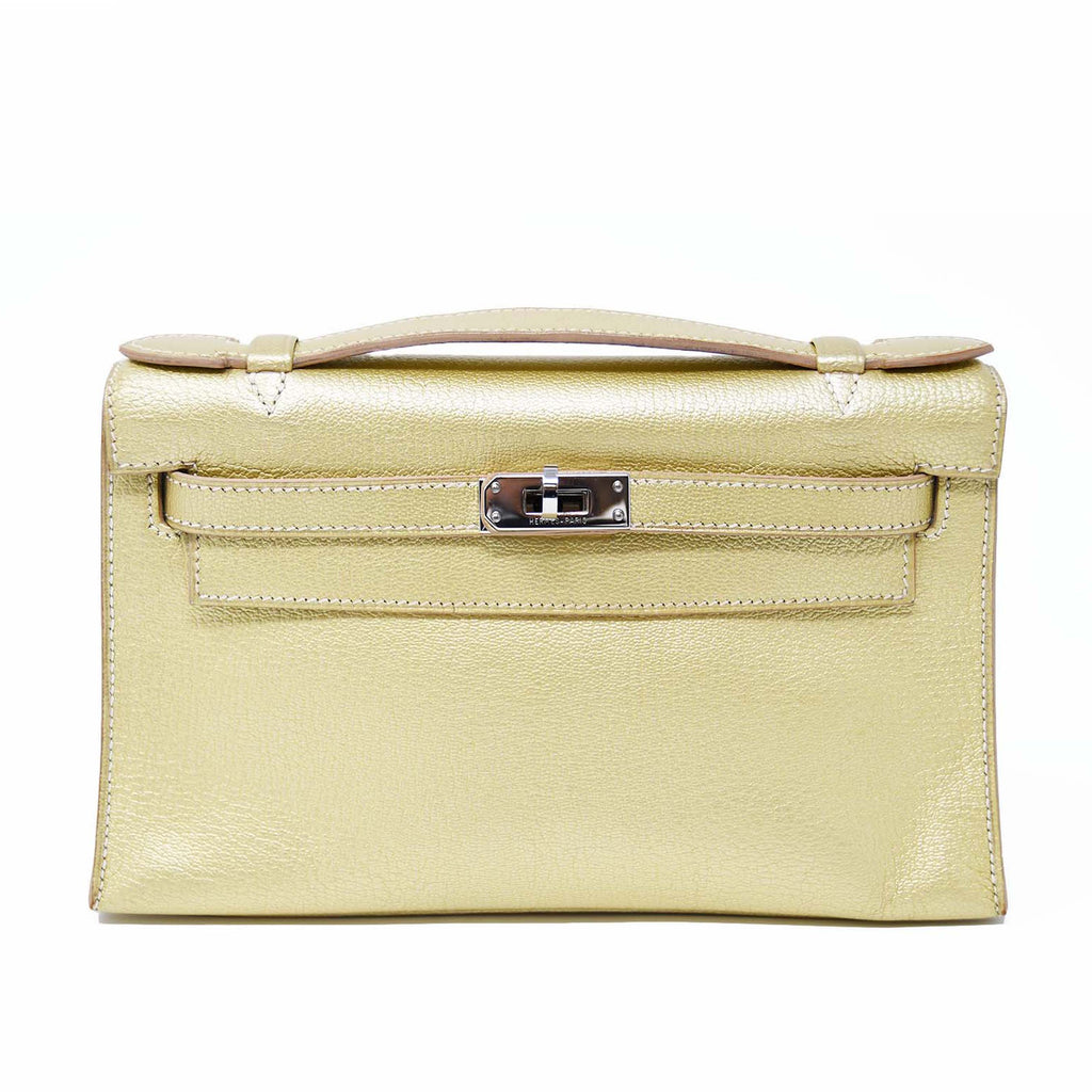 c4c3ff33c9f Hermes Kelly Pochette 22cm Gold with Palladium Hardware