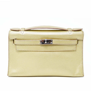 Hermes Kelly Pochette 22cm Gold with Palladium Hardware
