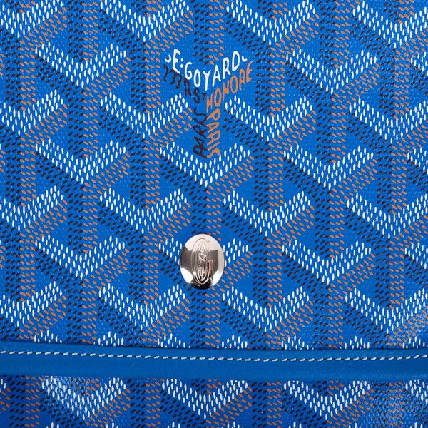 Goyard Plumet Bag Clutch Crossbody Wallet Blue Coated Canvas New