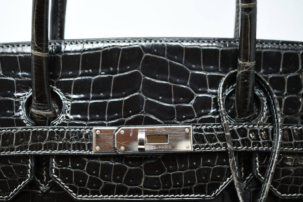 ... Hermes Birkin Bag 40cm Graphite Porosus Crocodile with Palladium  Hardware ... 302a3e8f3f58c