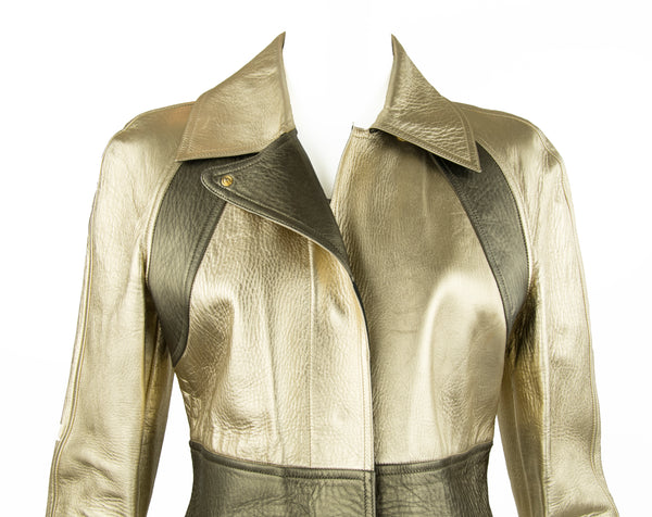 Gucci by Tom Ford Gold Leather jacket