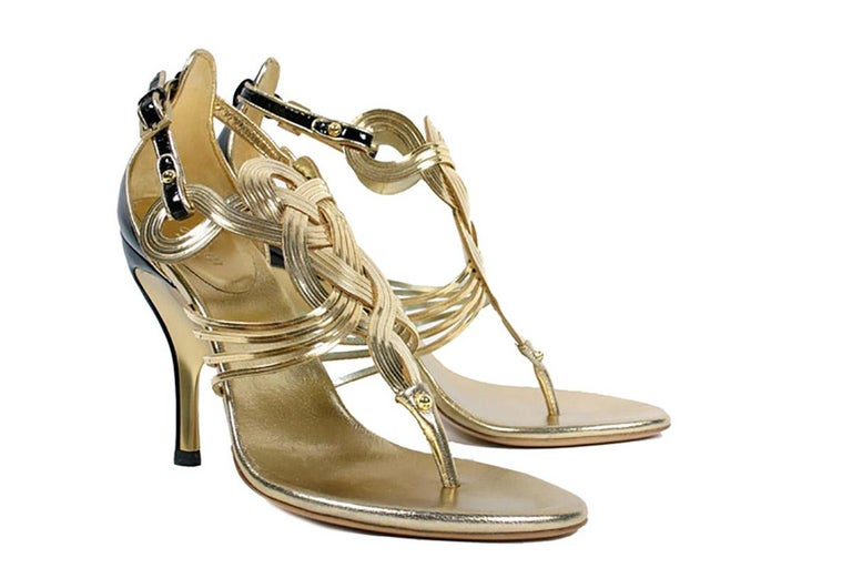 Gucci Vintage Gold Shoes from the Ad Campaign, S / S 2005