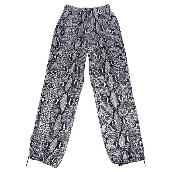 GUCCI by TOM FORD Pant Slinky Snakeskin Print Sweat Style Zipper Ankle 38 / 4