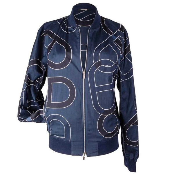 Hermes Men's Jacket Chaine D'Ancre Design Blue Reversible Windbreaker 50 nwt