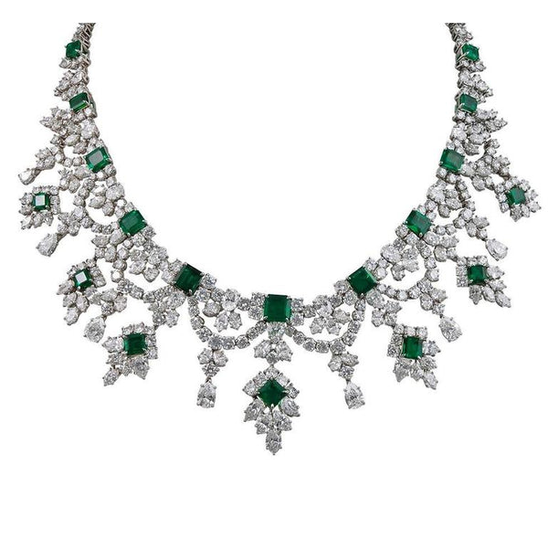 Harry Winston Emerald & Diamond Necklace