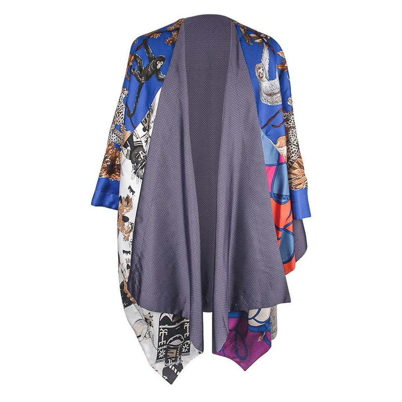 Hermes One of a Kind Cape with Combined Scarf Prints New w/box