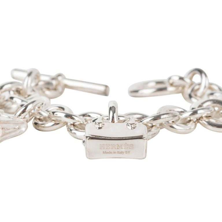 Hermes 5 Bags Amulette Bracelet Medium Model Sterling Silver