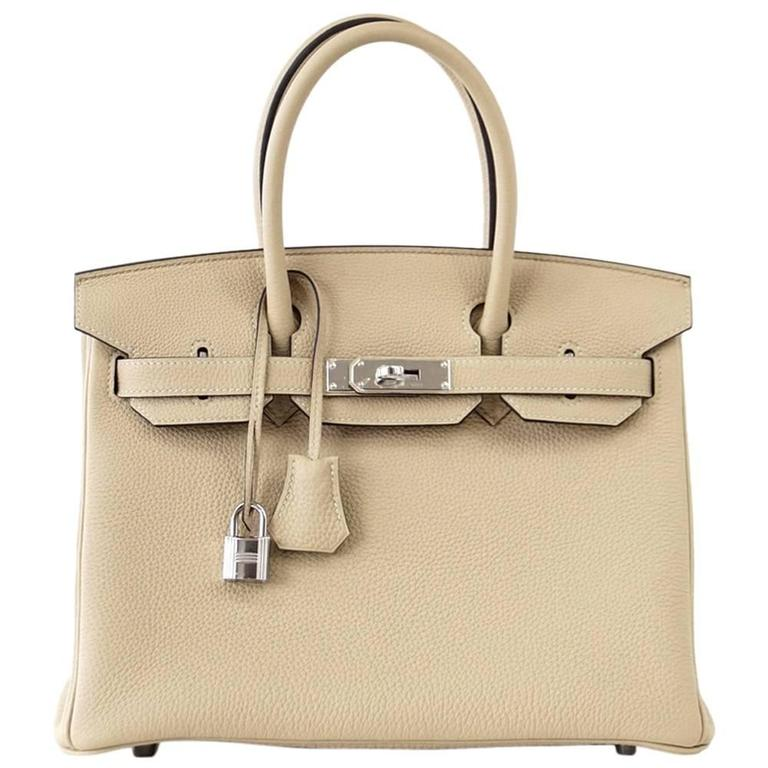 Hermes Birkin 30 Bag Neutral Perfection Trench Palladium Hardware