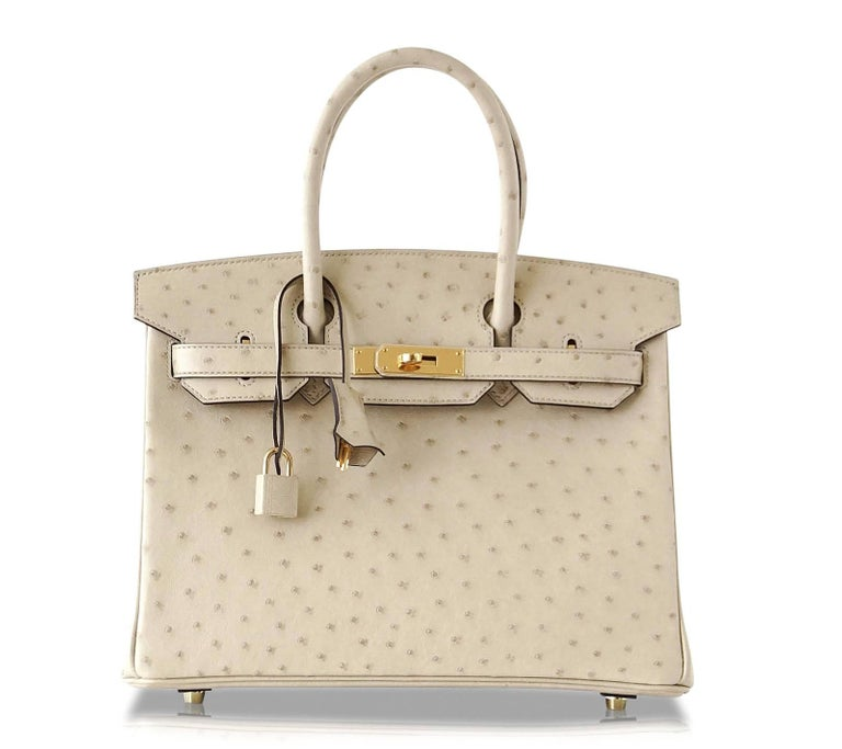 Hermes Birkin 30 Bag Parchemin Gold Hardware Perfect Year Round Neutral