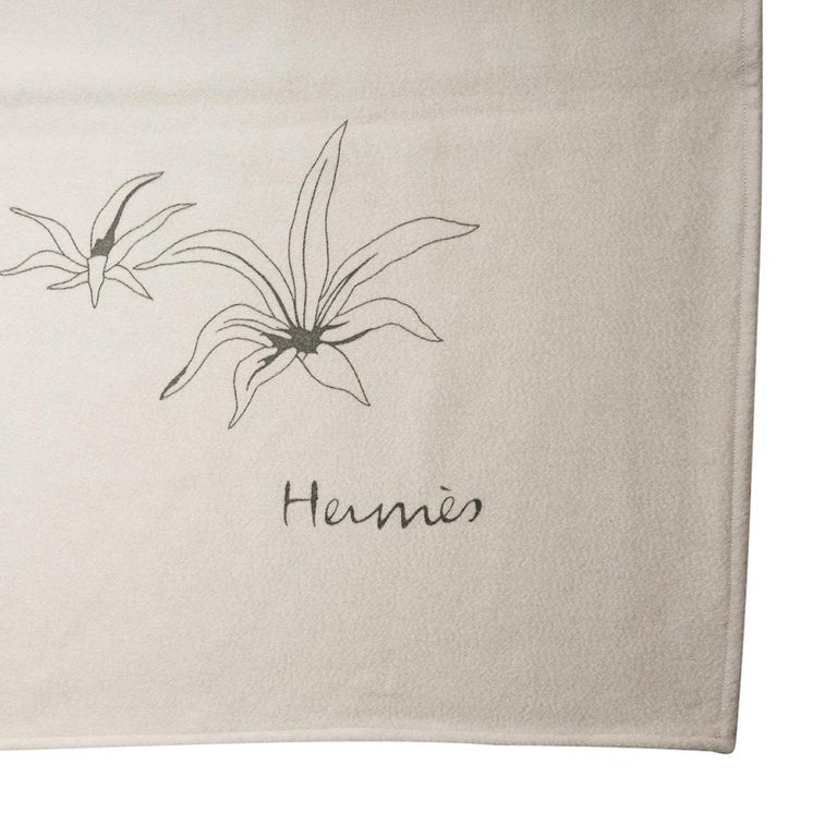 Hermes Blanket Jungle Love Natural Mongolian Cashmere/Silk New w/ Box