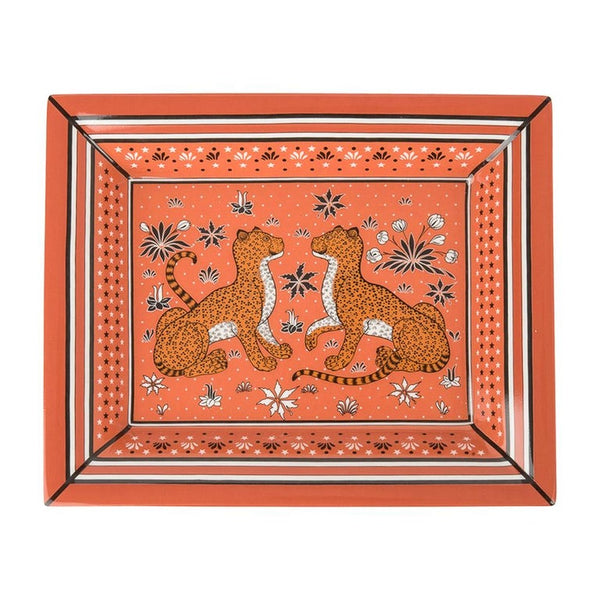 Hermes Change Tray Leopards Porcelain new