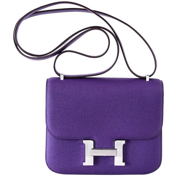 Hermes Constance 18 Very Rare Crocus Purple Epsom Palladium