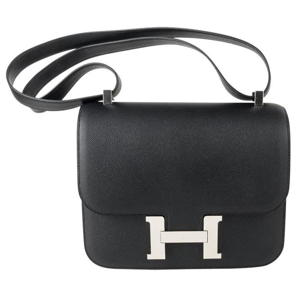 Hermes Constance III Bag 24 Black Evercolor Palladium