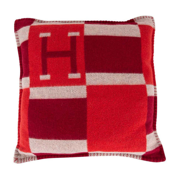 Hermes Cushion Avalon Bayadere PM Throw Pillow Rouge New
