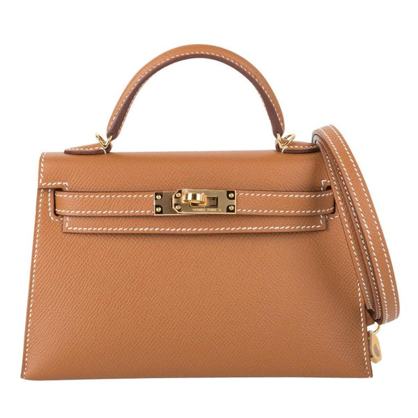 Hermes Kelly 20 Sellier Mini Kelly II Gold Epsom Gold Hardware