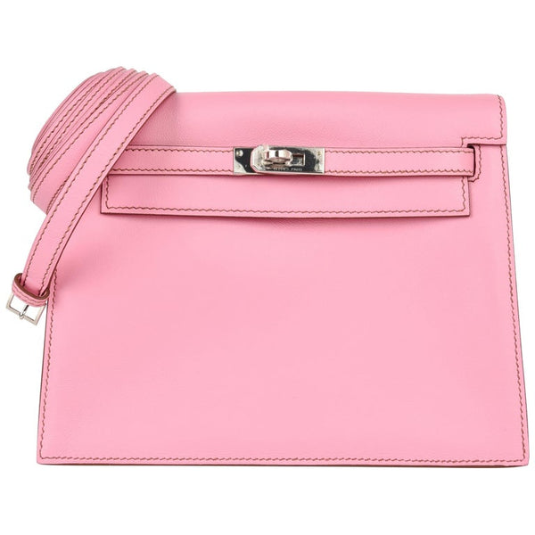Hermes Kelly Danse 5P Pink Swift Palladium