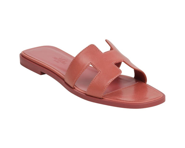 Hermes Oran Sandal Rouge Blush Chevre 39 / 9 New More Sizes Available