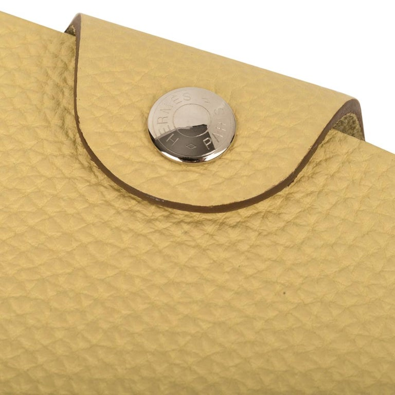Hermes Ulysse Mini Notebook Cover Jaune Poussin with Lined Notebook Refill