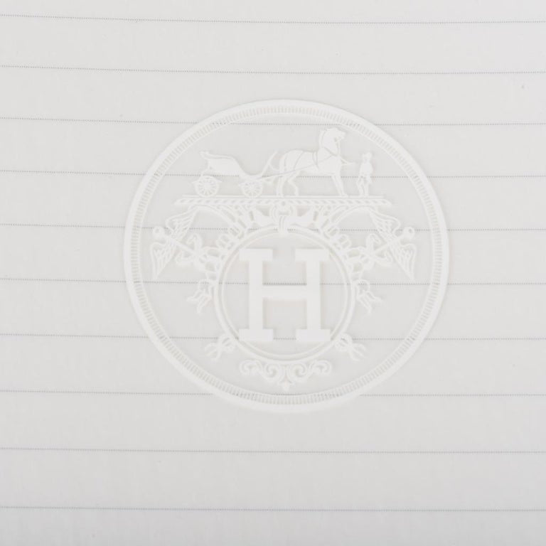 Hermes Ulysse Notebook Cover Gris Mouette PM Model with Lined Paper Refill