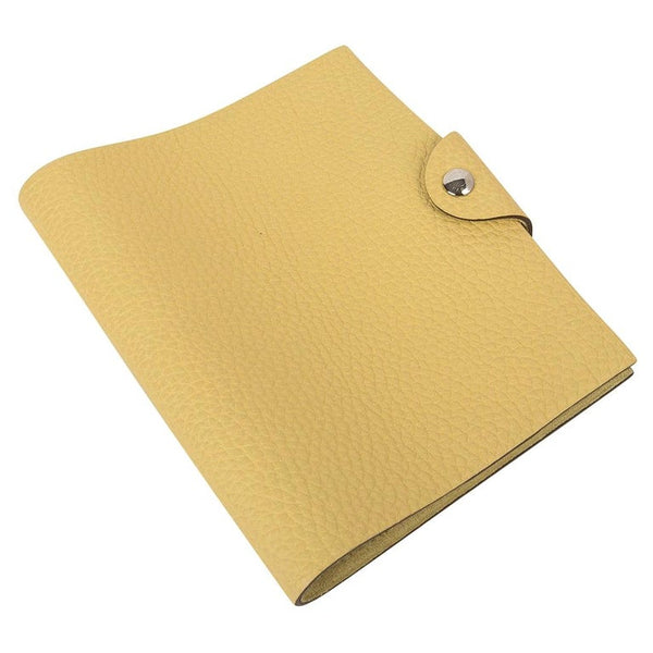 Hermes Ulysse PM Notebook Cover Jaune Poussin Model with Lined Paper Refill