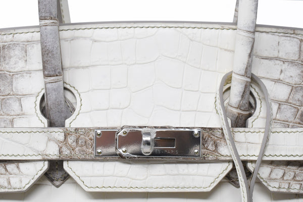 Hermes Birkin Bag 35cm Blanc Himalayan Crocodile with Palladium Hardware