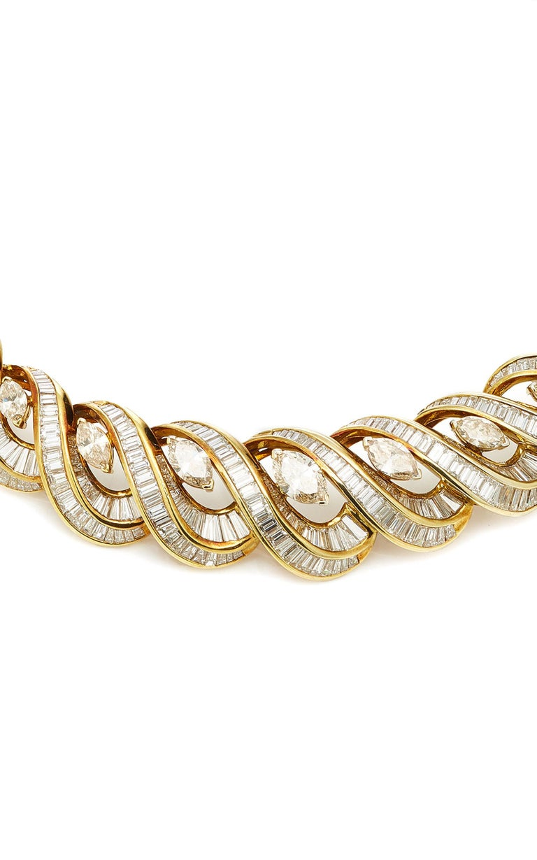 Italian Gold and Diamond Necklace