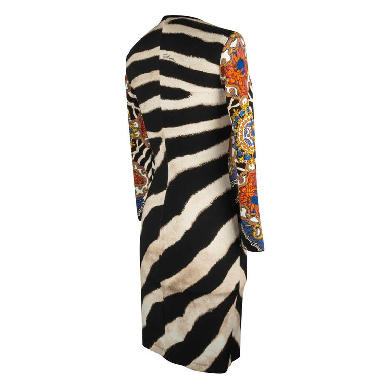 Just Cavalli Dress Animal Abstract and Floral Print 40 / 6