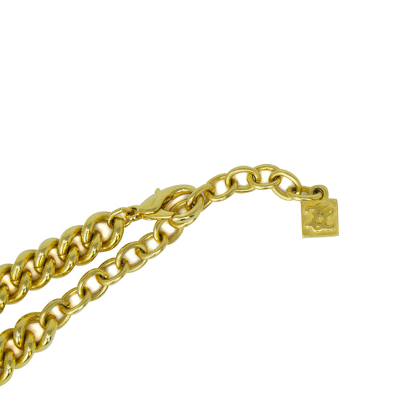 Karl Lagerfeld Gold Logo Necklace