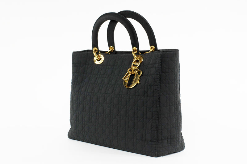 Lady Dior Large Cannage Nylon Bag