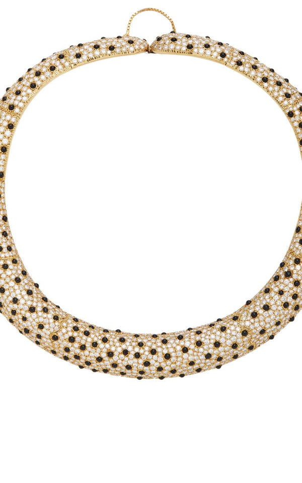 Leopard Diamond Onyx Necklace